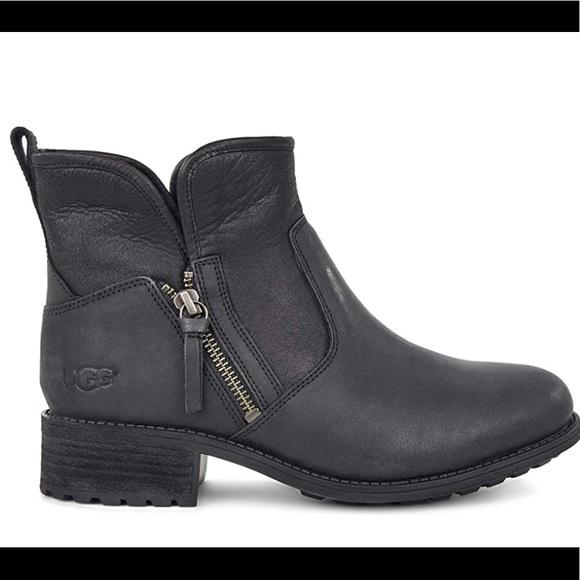 38791ef9fb1 UGG Lavelle Leather Ankle Boots Black Size 8